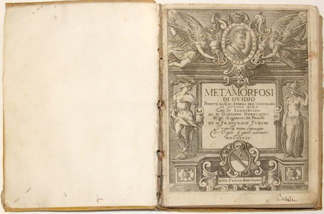 Ovidio, Metamorfosi, 1582